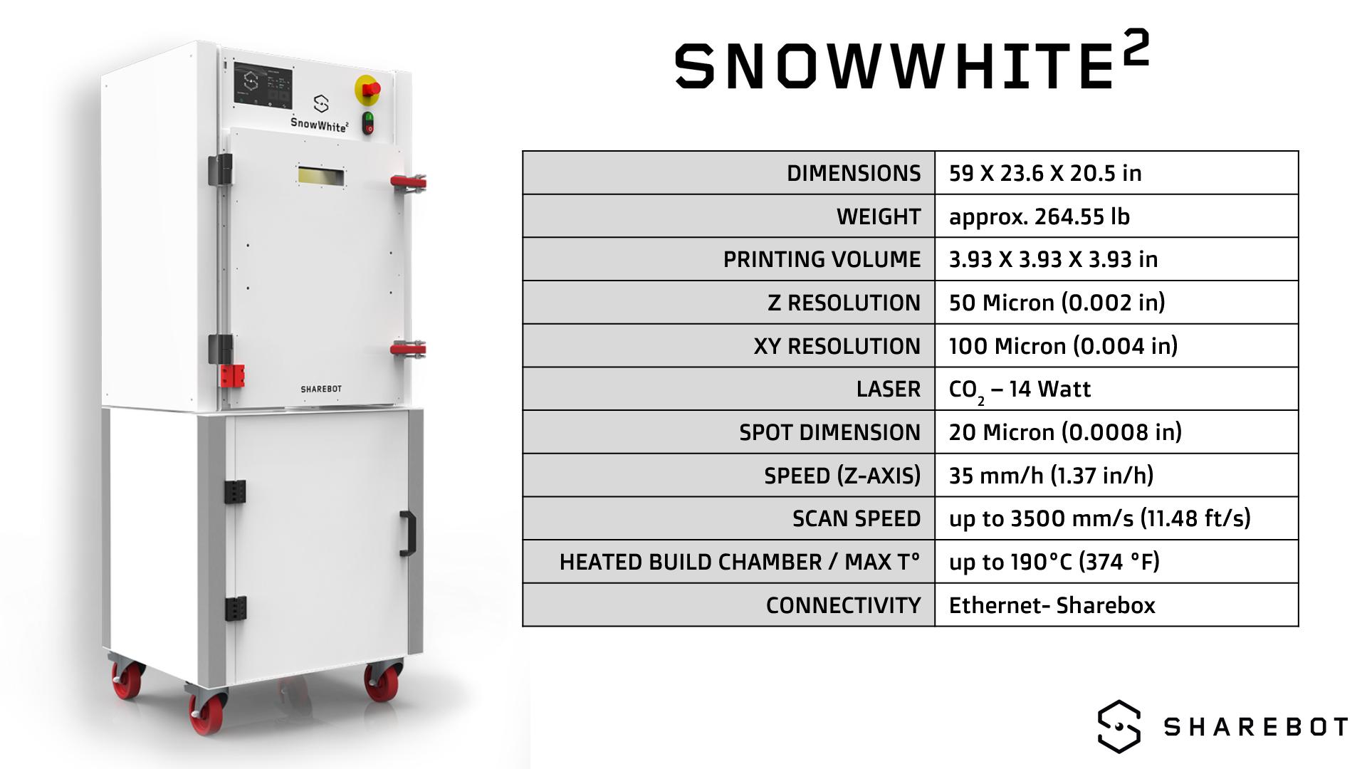 SnowWhite 2 US Technical Specs